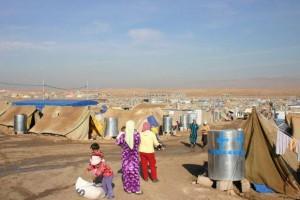 Blick auf das Flüchtlingslager Domiz im Nordirak, wo Flüchtlinge aus Syrien Zuflucht gefunden haben.