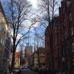 Das Bild zeigt einen Straßenzug in Hannover-Linden