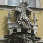 Figur des heiligen Christophorus in Bamberg