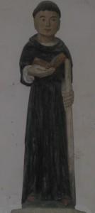 Holzstatue eines Mönchs
