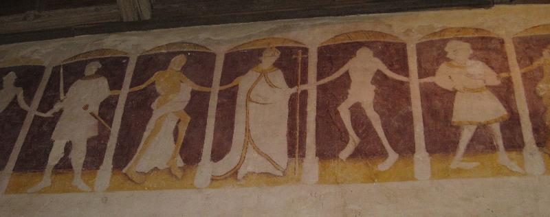Ausschnitt des Freskos aus dem Totentanz von Kermaria