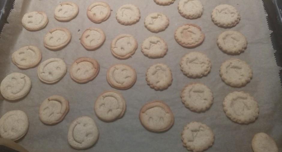 Kekse auf dem Blech