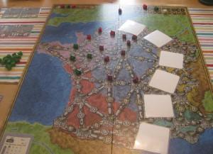 Spielplan Frankreich - eine der Funkenschlag-Erweiterungen