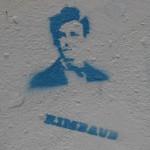 Bild der Büste mit Schriftzug Rimbaud