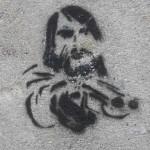 Zeichnung eines Gangsters mit vorgehaltener Waffe