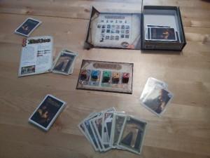 Spielplan und Handkarten eines Spielers bei Biblios