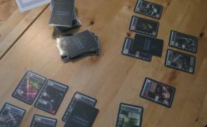 Ausgelegte Karten im 2-Personen-Spiel
