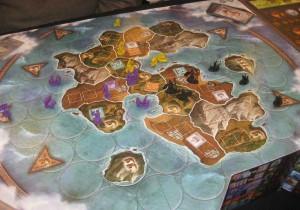 Spielplan con Cyclades - Das Spiel