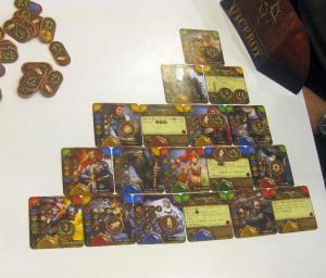 Karten-Pyramide im Spiel Viceroy