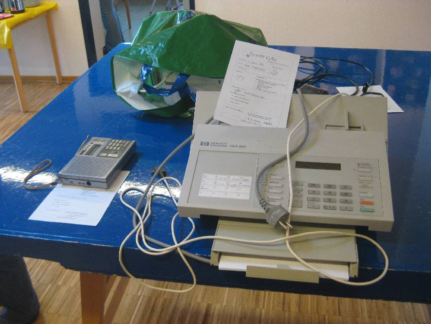 Tisch mit den nächsten Reparaturaufträgen