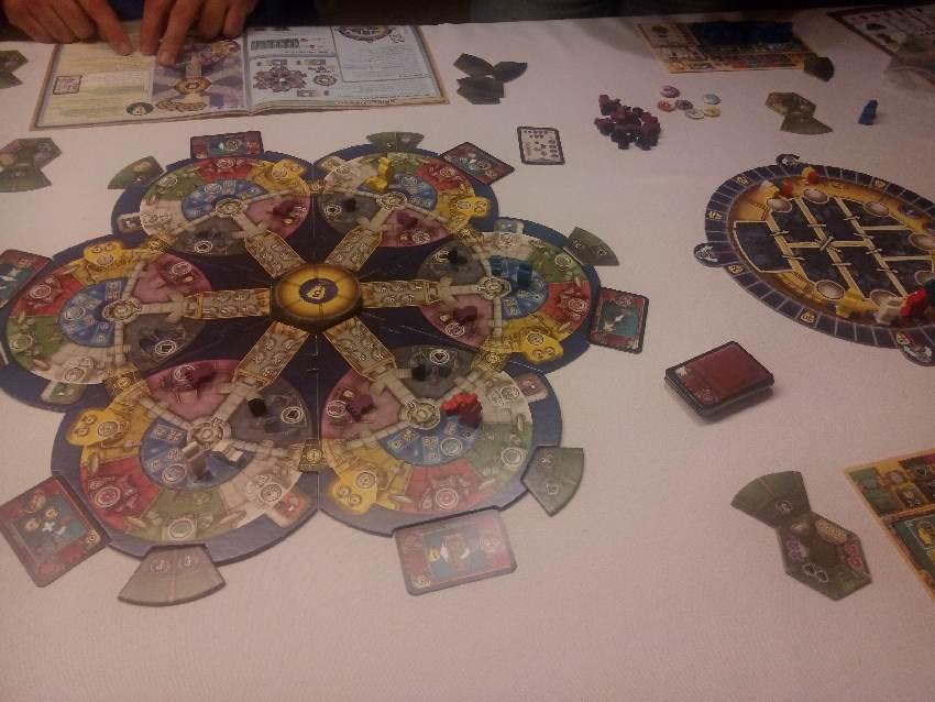 Spielplan des Brettspiels AquaSphere von Stefan Feld, erschienen bei Hall Games und Pegasus