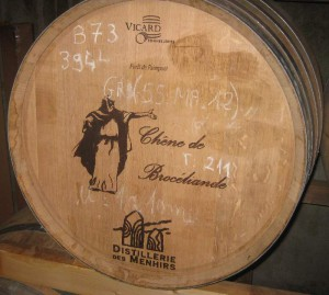 Whiskyfass, in dem der Eddu Silver Brocéliande lagert