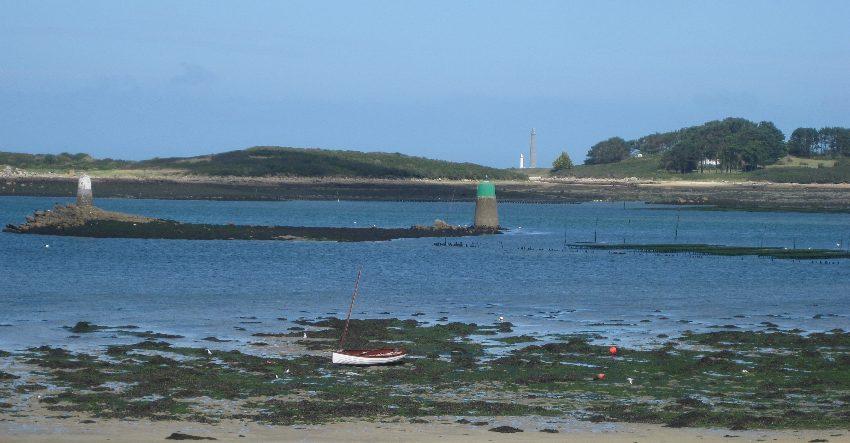 Der Phare de l'île vierge vom Aber w'rach aus gesehen