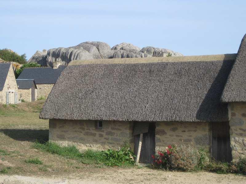 Wieder aufgebautes Wohnhaus in Meneham