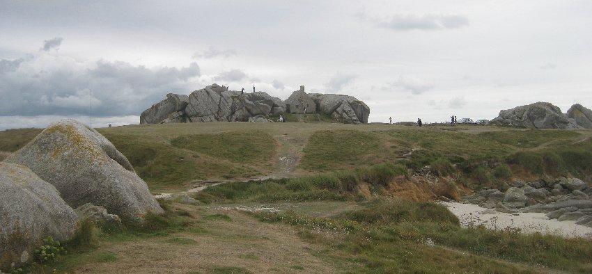 Das Wächterhaus zwischen den Felsen in Meneham