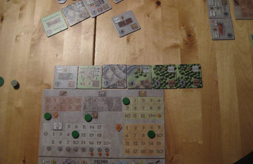 Spielplan eines Spielers bei Peloponnes mit Stadterweiterungen