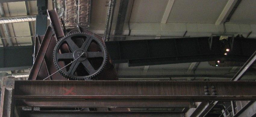 Zahnrad in der Zeche Zollverein in Essen