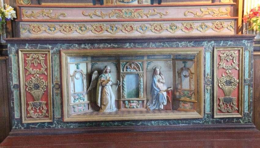 Altarbild (Detail) aus dem Hauptaltar der Chapelle Notre-Dame de Penhors in Pouldreuzic