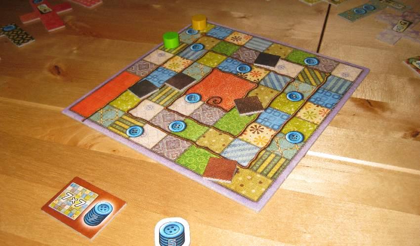 Zeitzähler mit Bonus-Flicken aus dem Zwei-Spieler-Spiel Patchwork
