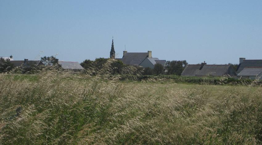 Blick auf den Ortsteil Penhors in Pouldreuzic im Finistère