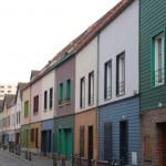 Bunte historische Häuser in der Altstadt von Amiens