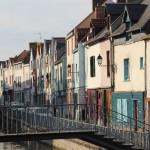 Brücken und alte Häuser in Amiens