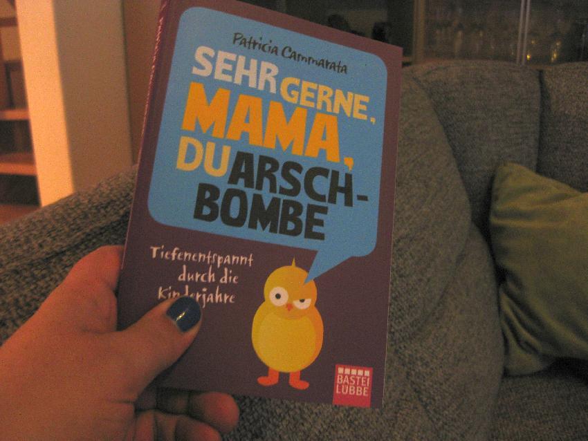 Arschbomben-Buch vom Nuf auf meinem Sofa