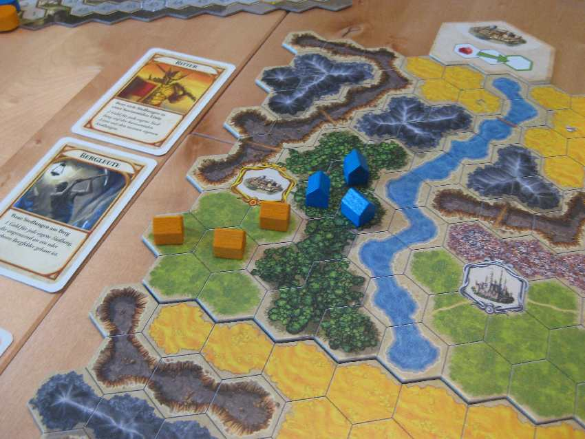 Kingdom-Builder-Spielplan mit Siegpunktbedingungen