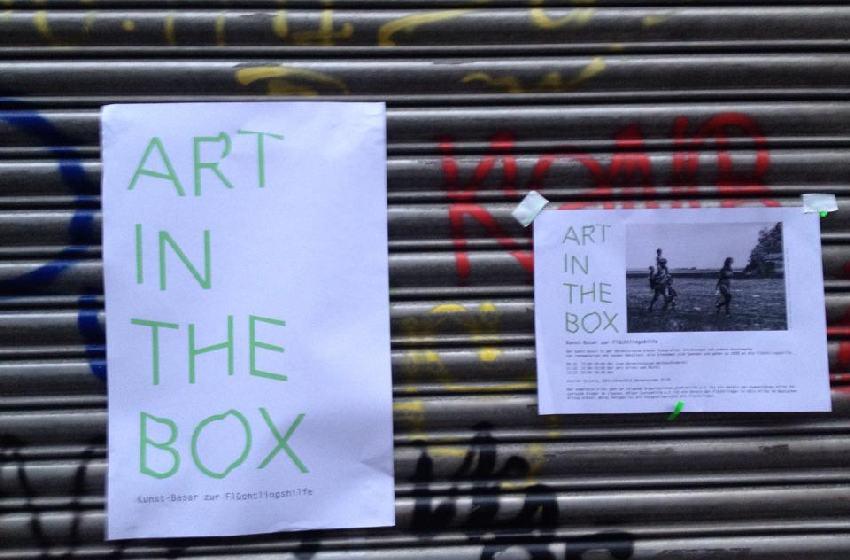 Hinweisposter für Art in the box in Köln