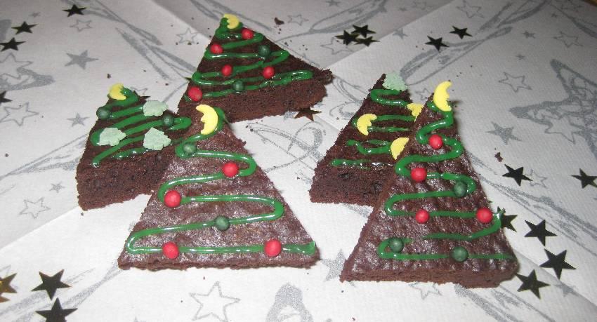 Brownie-Weihnachtsbäume