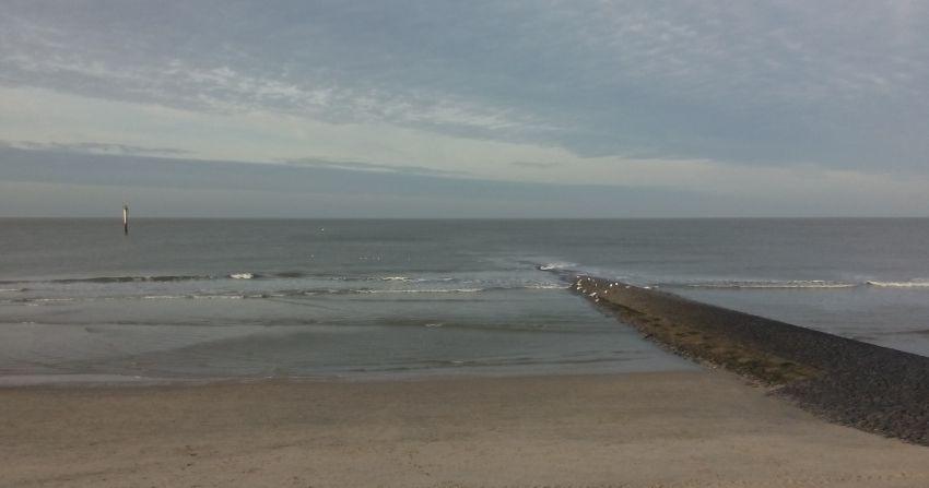 Strandabschnitt in Norderney im Winter