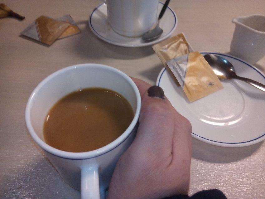 Kaffee auf der Fähre nach Norddeich Mole