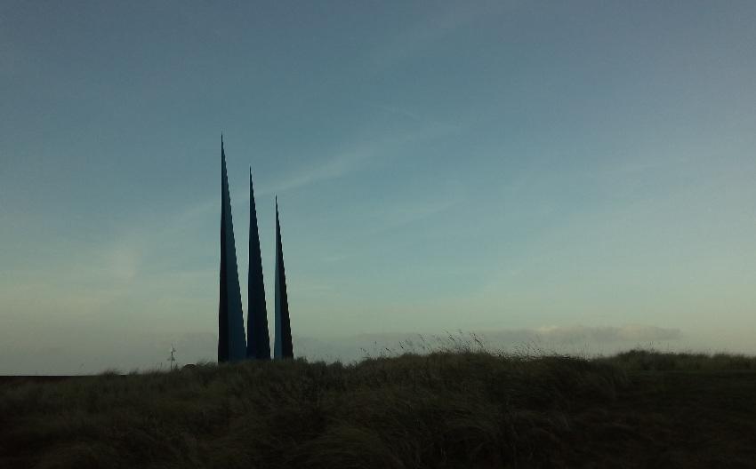 Zackenstatue am Strand von Norderney