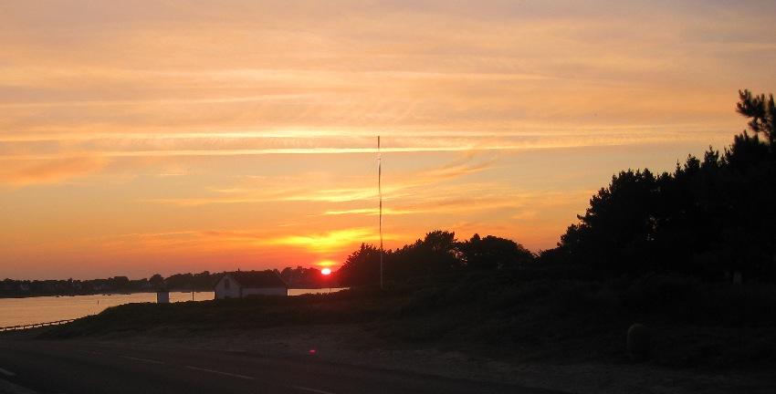 Sonnenuntergang am Golfe du Morbihan in Saint-Philibert