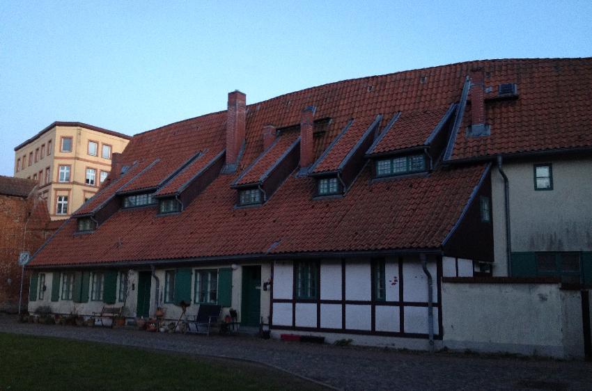 Alte Fachwerkhäuser in Stralsund