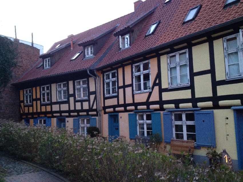 Fachwerkhäuser in der Altstadt von Stralsund