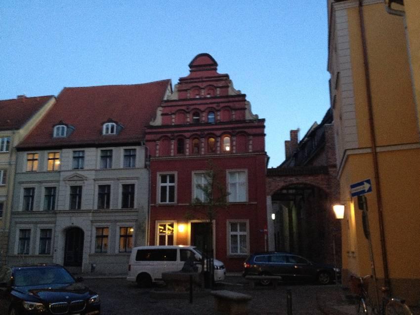 Liebevoll restaurierte Fassade in Stralsund