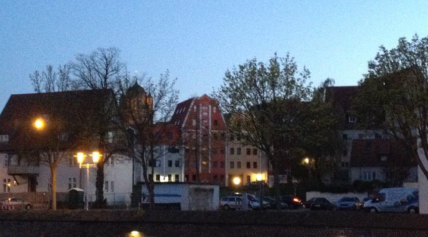 Historische Fassaden vom Stralsunder Hafen aus gesehen