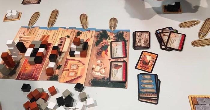 Material des Spiels Imhotep von Kosmos
