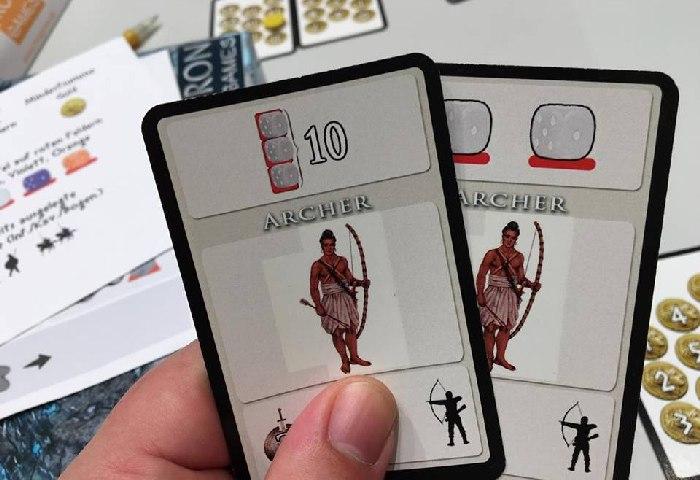 Handkarten von Phalanxx - Symbolbilder beim Prototyp sind noch nicht die finale Zeichnung