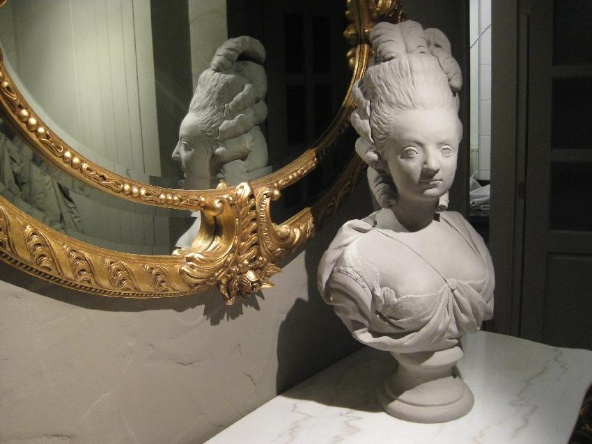 Büste von Marie-Antoinette im Hotel de Laurier in Knokke-Heist