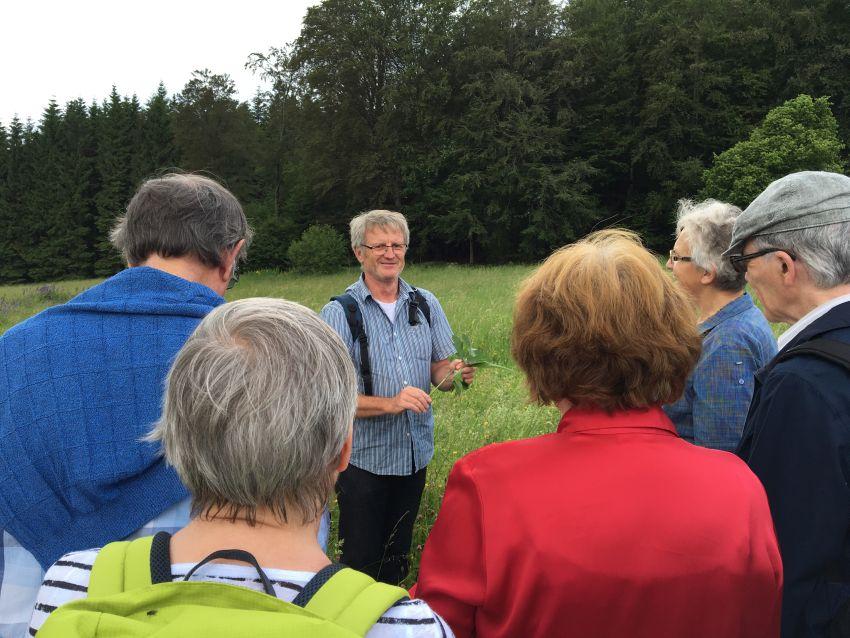 Kräuterpädagoge Eberhard Dinger leitet die Kräuterwanderungen
