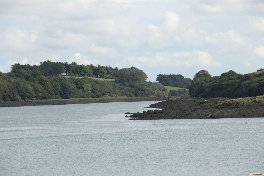 Blick auf das Mündungsdelta des Aber Benoît in der Bretagne