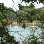 Blick auf einen kleinen Naturhafen am Aber Benoît bei Lannilis