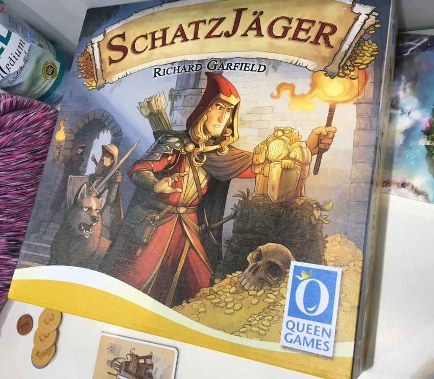 "Schachtel des Brettspiels ""Schatzjäger"""