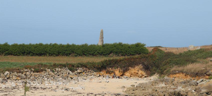 Menhir de Cam Louis in Plouescat