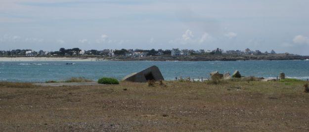 Überrest eines deutschen Bunkers an der Pointe de la torche