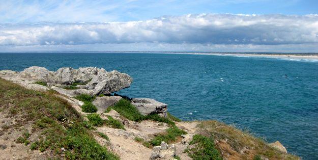 Felsnase an der Pointe de la Torche in der Bretagne
