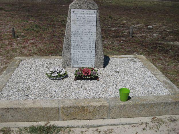 Gedenktafel für die Opfer der Nazis an der Pointe de la torche