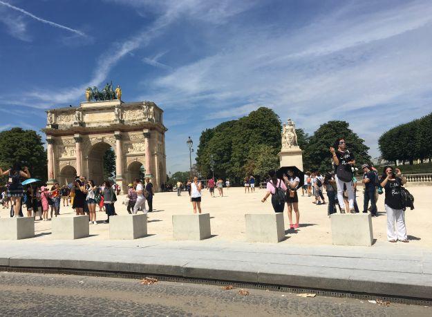 Blick auf die Tuillerien in Paris